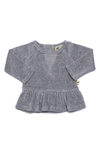 Infant Girls Monica  Andy Peplum Organic Cotton Sweatshirt