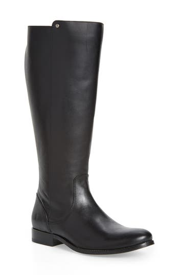 Frye Melissa Stud Knee High Boot Ext Calf- Black