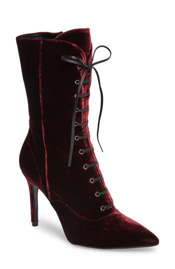 Charles David Loretta Pointy Toe Bootie Burgundy