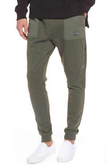Calvin Klein Jeans Cargo Sweatpants, Green