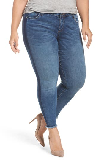 Connie Frayed Skinny Ankle Jeans