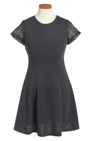 Girl's Penelope Tree Priscilla Mesh Sleeve Dress