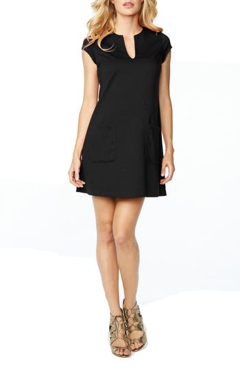 Maternal America Shift Maternity Dress, Black