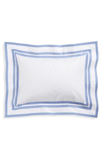 Matouk Meridian 350 Thread Count Sham, Size One Size - Blue