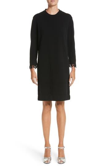 Marc Jacobs Beaded Fringe Wool & Cashmere Dress, Black