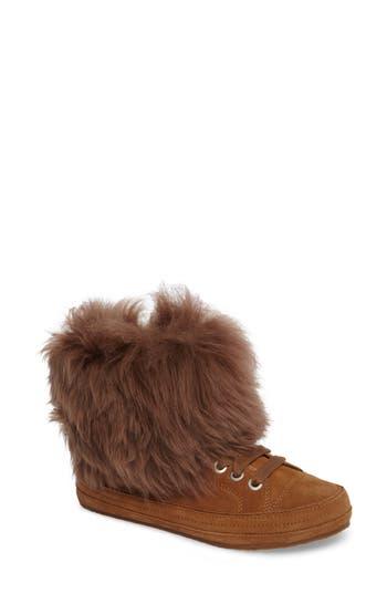 Ugg Antoine Fur Cuff Sneaker, Brown