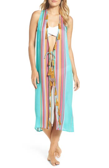 Nanette Lepore Sayulita Midi Vest Cover-Up, Blue/green