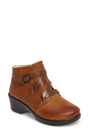 Alegria Indi Demi Wedge Bootie, Brown