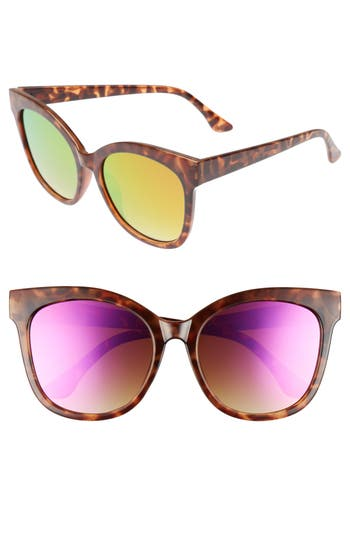 Women's Bp. 55Mm Square Sunglasses - Tort/ Purple