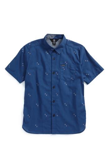 Boys Volcom Floyd Geo Pattern Woven Shirt