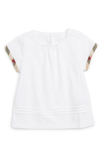 Girls Burberry Gisselle Top Size 4Y  White