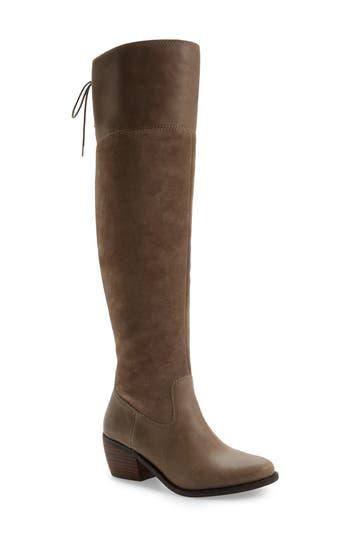 Lucky Brand Komah Over The Knee Boot Wide Calf- Beige