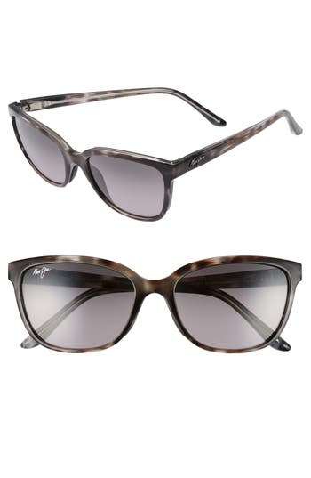 Maui Jim Honi 5m Polarized Cat Eye Sunglasses - Grey Tortoise Stripe