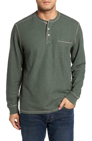 Tommy Bahama Island Thermal Standard Fit Thermal Henley, Green