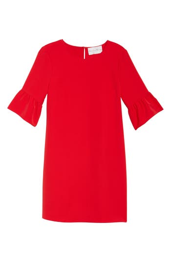 Charles Henry Bell Sleeve Shift Dress, Pink