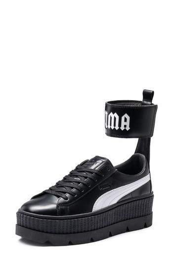 Fenty Puma By Rihanna Ankle Strap Creeper Sneaker, Black