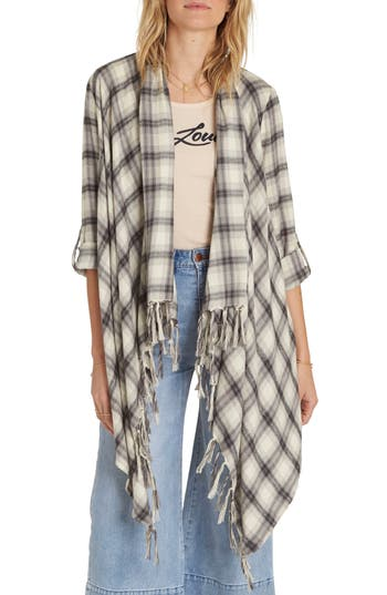 Billabong Live It Up Flannel Wrap, Ivory