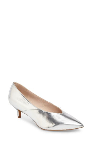 Topshop Jukebox Kitten Heel - Metallic
