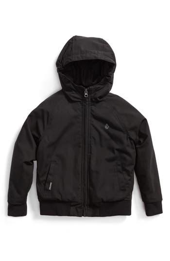Boys Volcom Hernan Heavyweight Hooded Jacket Size 5  Black