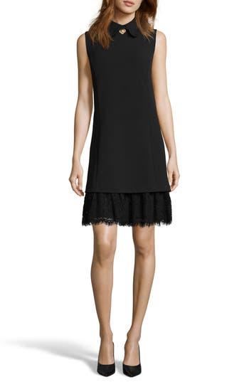Eci Embellished Crepe Shift Dress, Black