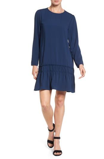 Halogen Drop Waist Dress, Blue