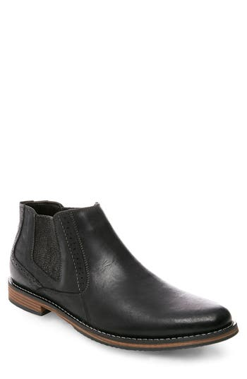 Steve Madden Paxton Chelsea Boot, Black