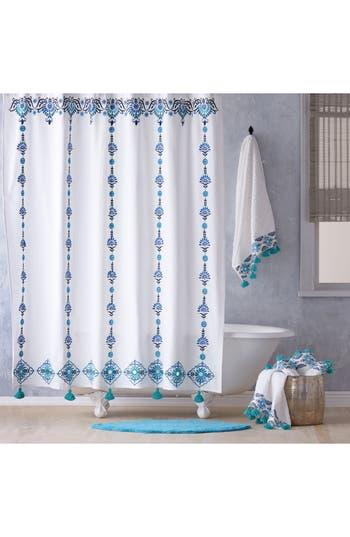 John Robshaw Aloka Shower Curtain, Size One Size - Blue