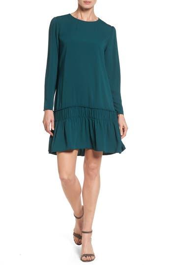 Halogen Drop Waist Dress, Green
