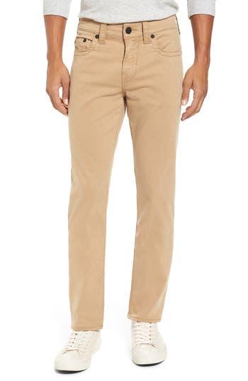 True Religion Brand Jeans Geno Straight Leg Jeans, Brown