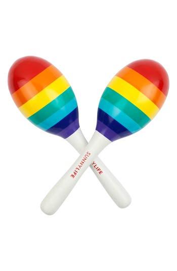 Toddler Sunnylife Set Of 2 Rainbow Maracas