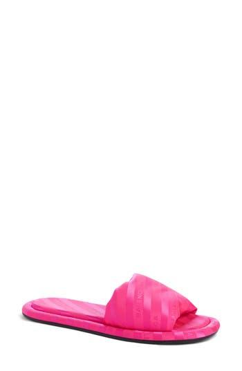 Women's Balenciaga Stripe Slide Sandal, Size 5US / 35EU - Pink