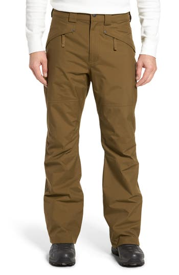 The North Face Straight Six Waterproof Snow Pants Green