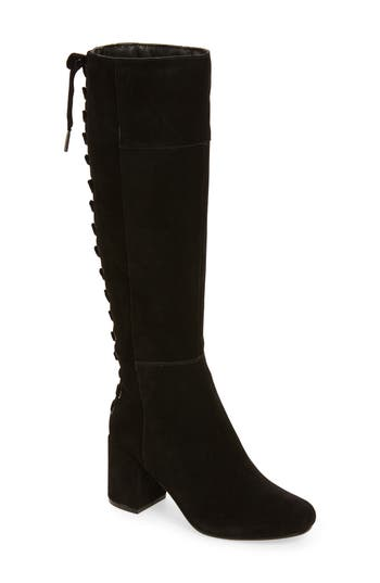 Very Volatile Wynter Lace Up Knee High Boot, Black
