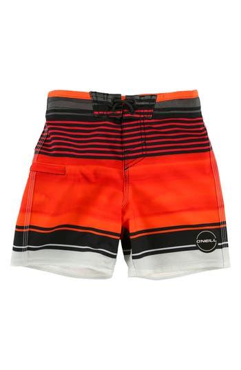 Boy's O'Neill Hyperfreak Heist Stretch Board Shorts, Size 23 - Red