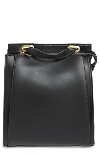 Street Level Faux Leather Convertible Backpack