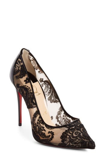 Christian Louboutin Follies Embellished Pointy Toe Pump - Black