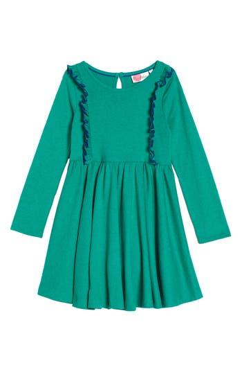 Girl's Mini Boden Ruffle Jersey Dress, Size 6-7Y - Green