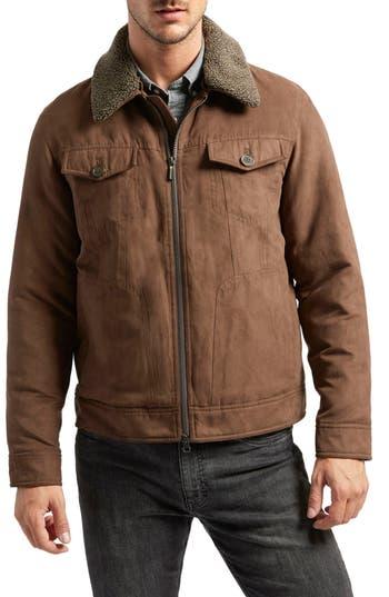 Rainforest Gilpin Water-Resistant Trucker Jacket, Brown
