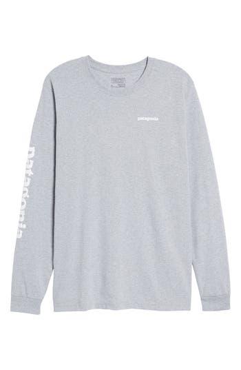 Patagonia Long Sleeve Logo T-Shirt, Grey