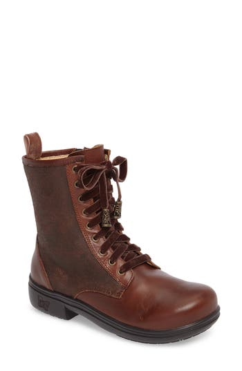 Alegria Ari Combat Boot, Brown