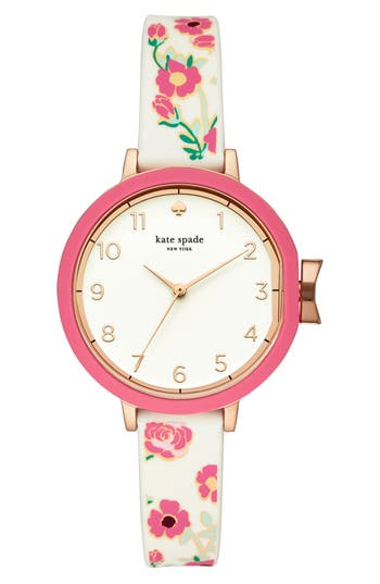 Women's Kate Spade New York Park Row Silicone Strap Watch, 34Mm