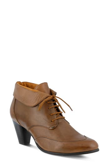 Spring Step Conquer Foldover Cuff Bootie - Brown