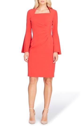 Tahari Bell Sleeve Sheath Dress, Orange
