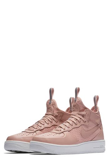 Nike Air Force 1 Ultraforce Mid Sneaker, Pink