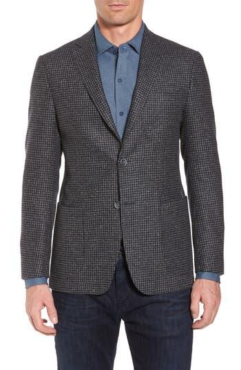 Men's Bugatchi Wool Blend Houndstooth Blazer, Size 38R - Blue