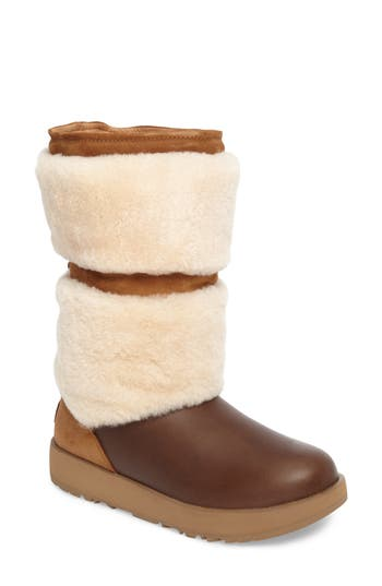 Ugg Reykir Waterproof Snow Boot, Brown