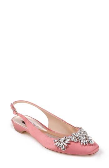 Badgley Mischka Shayla Slingback Flat, Pink