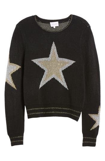 Women's Devlin Misty Star Sweater, Size X-Small - Black
