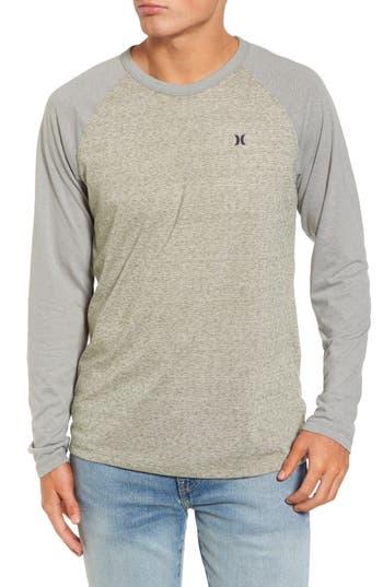 Hurley Still Raglan Sleeve T-Shirt, Green