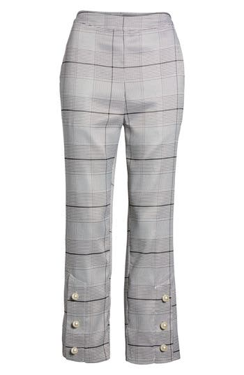 Women's J.o.a. Crop Plaid Pants, Size X-Small - Black
